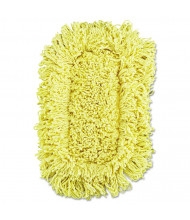 "Rubbermaid 12"" L Looped-End Dust Mop, Yellow, Pack of 12"