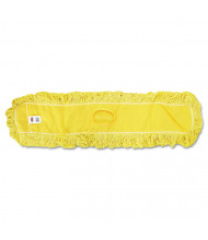 "Rubbermaid 48"" L Looped-End Dust Mop, Yellow"
