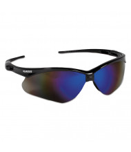 Jackson Safety Nemesis Safety Glasses, Black Frame, Blue Mirror Lens