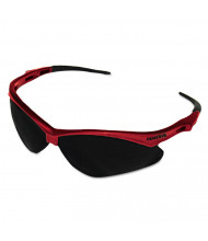 Jackson Safety Nemesis Safety Glasses, Red Frame, Smoke Lens