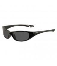 Jackson Safety V40 HellRaiser Safety Glasses, Black Frame, Smoke Lens