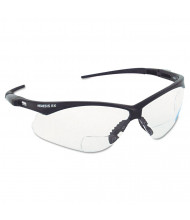 Jackson Safety V60 Nemesis Rx Reader Safety Glasses, Black Frame, Clear Lens