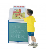"Jonti-Craft Rainbow Accents 24"" W Chalkboard Mobile Big Book Easel (Shown in Blue)"