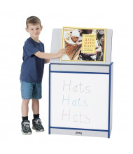 "Jonti-Craft Rainbow Accents 24"" W Write-n-Wipe Dry Mobile Erase Big Book Easel (Shown in Blue)"