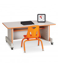 "Jonti-Craft Rainbow Accents 42"" W x 24"" D Apollo Adjustable Computer Desk"