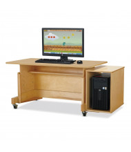 "Jonti-Craft Apollo 42"" W x 24"" D Computer Desk (Shown in Maple, Computer Not Included)"