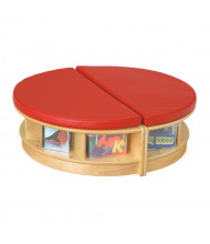 Jonti-Craft Read-a-Round Island Bench Classroom Storage (Shown in Red)