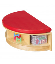 Jonti-Craft Read-a-Round Half-Round Bench Classroom Storage (Shown in Red)