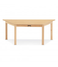 "Jonti-Craft 47"" W x 21"" D Trapezoid-Shaped Multi-Purpose Table (Shown in Maple)"
