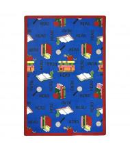 Joy Carpets Bookworm Classroom Rug, Blue