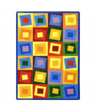 Joy Carpets Off Balance Classroom Rug, Brights