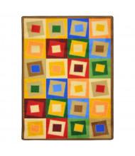 Joy Carpets Off Balance Classroom Rug, Neutrals