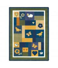 Joy Carpets Baby Love Rectangle Classroom Rug, Bold
