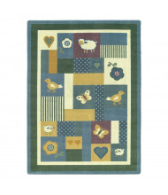 Joy Carpets Baby Love Rectangle Classroom Rug, Soft