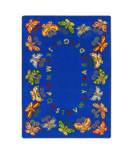 Joy Carpets Butterfly Delight Classroom Rug
