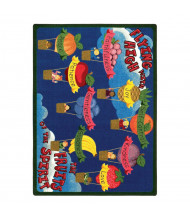 Joy Carpets Fruits of the Spirit Rectangle Classroom Rug