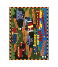 Joy Carpets Kids Building Character Rectangle Classroom Rug