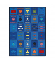 Joy Carpets Button Button Rectangle Classroom Rug