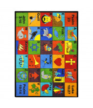 Joy Carpets Bible Phonics Rectangle Classroom Rug