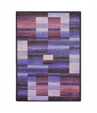 Joy Carpets Boomblox Rectangle Classroom Rug, Purple
