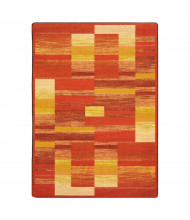 Joy Carpets Boomblox Rectangle Classroom Rug, Orange