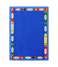 Joy Carpets Bilingual Colors Rectangle Classroom Rug