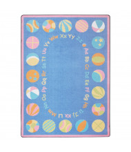Joy Carpets Bouncy Balls Classroom Rug, Soft