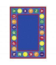 Joy Carpets Alphabet Spots Classroom Rug, Primary