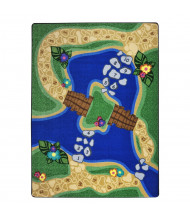 Joy Carpets Alphabet Trail Rectangle Classroom Rug