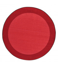 Joy Carpets All Around Classroom Rug, Red (Shown in Round)