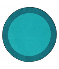 Joy Carpets All Around Classroom Rug, Teal (Shown in Round)