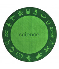 Joy Carpets STEM Classroom Rug, Science (Shown in Round)