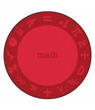 Joy Carpets STEM Classroom Rug, Math (Shown in Round)