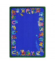 Joy Carpets Choo Choo Letters Rectangle Classroom Rug