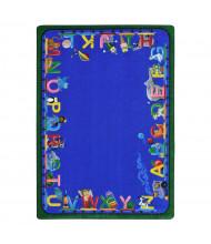 Joy Carpets Choo Choo Letters Rectangle Classroom Rug
