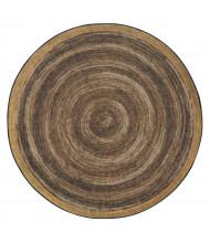 Joy Carpets Feeling Natural Round Classroom Rug, Walnut