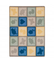 Joy Carpets Cuddly Creatures Rectangle Classroom Rug