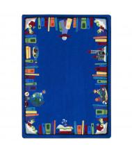 Joy Carpets Discovery Books Rectangle Classroom Rug