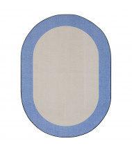 Joy Carpets Easy Going Classroom Rug, Light Blue (Shown in Oval)