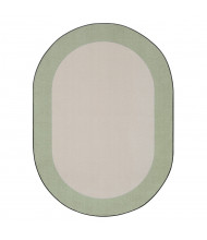 Joy Carpets Easy Going Classroom Rug, Sage (Shown in Oval)