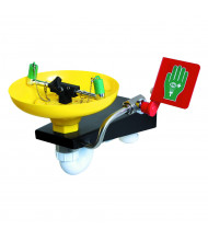 Justrite Plastic Bowl Eyewash Station, Wall Mount