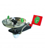 Justrite Stainless Steel Bowl Eyewash Station, Wall Mount
