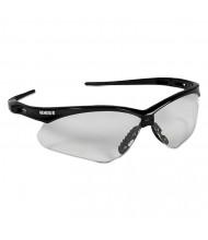 Jackson Safety Nemesis Safety Glasses, Black Frame, Clear Lens