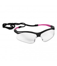 Jackson Safety V30 Nemesis Safety Eyewear, Small, Black Frame w/Pink Tips, Clear Lens, 12/Pack