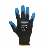 Jackson Safety G40 Nitrile Coated Gloves, Medium/Size 8, Blue, 12/Pairs