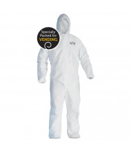 KleenGuard A40 Elastic-Cuff and Ankle Hooded Coverall, White, X-Large