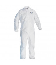 KleenGuard A40 Elastic-Cuff and Ankles Coveralls, White, Large, 25/Pack