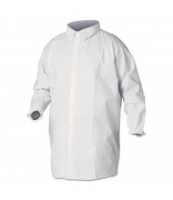 KleenGuard A40 Liquid and Particle Protection Lab Coats, Large, White, 30/Pack