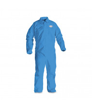 KleenGuard A60 Elastic-Cuff, Ankle & Back Coveralls, Blue, X-Large, 24/Pack