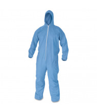 KleenGuard A60 Elastic-Cuff, Ankles & Back Hooded Coveralls, Blue, 2X-Large, 24/Pack